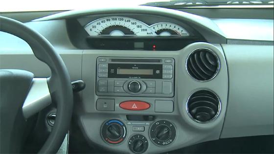 Interior del Toyota Etios