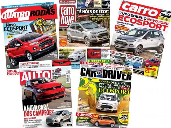 La Nueva EcoSport copa las tapas de las principales revistas brasileñas.