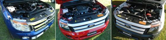 Las tres motorizaciones de la Nueva Ford Ranger.