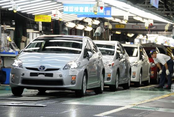 Línea de producción del Toyota Prius en Japón.