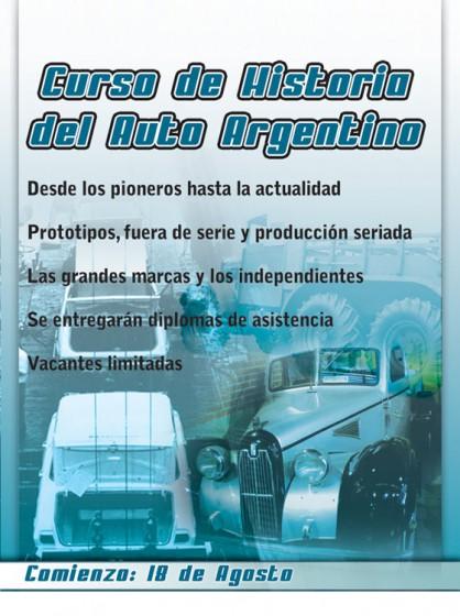 Arranca un nuevo curso de Historia del auto argentino