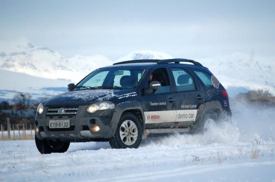 Bosch ya ensaya sus sistemas ABS en una pista de pruebas en la Patagonia argentina