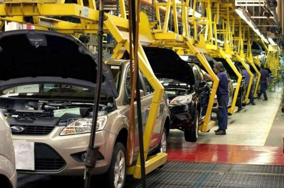 Línea de producción del Ford Focus.