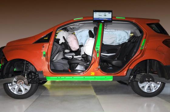 La Nueva EcoSport y sus seis airbags (versión Titanium).