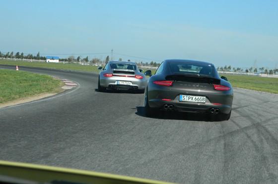 Siguiendo al nuevo 911 en la pista del Mouras.