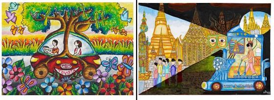 Dibujos premiados en la edición 2011 del Dream Car Art Contest
