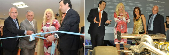 Susana Giménez cortó la cinta en la inauguración del Museo del Automóvil de Termas.