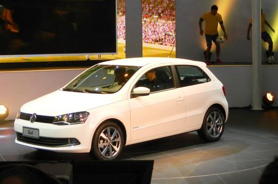 Volkswagen Gol Trend de 3 puertas en el Salón de San Pablo 2012.