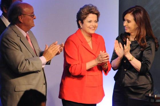 José Ignacio de Mendiguren (UIA), Dilma Rousseff y Cristina Fernández.