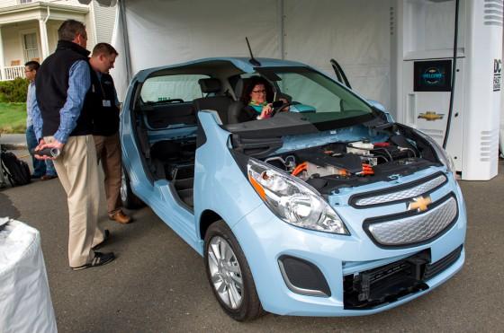Corte del Chevrolet Spark EV en el evento Electrification Experience de GM.