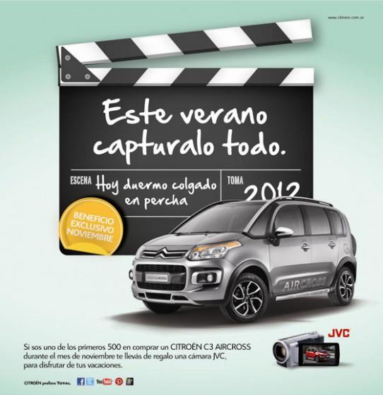 En noviembre, el Citroën C3 Aircross viene con una filmadora de regalo