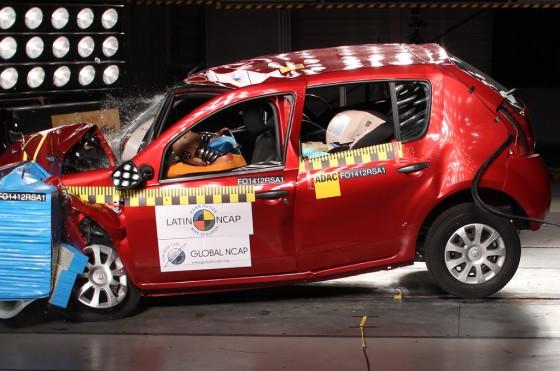 Renault Sandero en los test de LatinNCAP