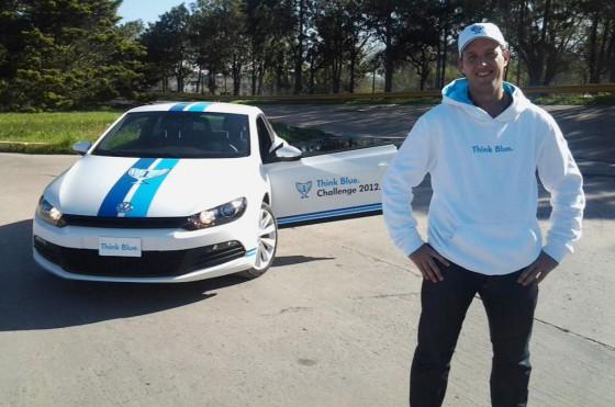 Sebastián Kandel, representante argentino en el VW Think Blue World Championship.