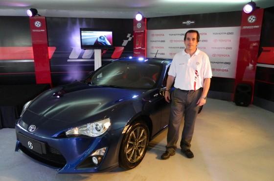 """Gustavo Salinas: """"Pensamos vender 300 unidades de la Toyota 86 en el primer año"""""""
