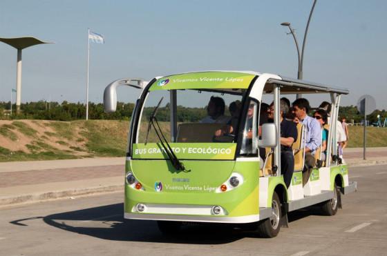 El microbus eléctrico de Vicente López.