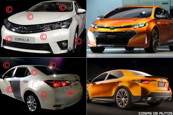 El posible Corolla 2014 y el concept Corolla Furia.
