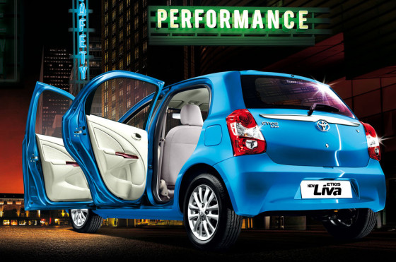 Toyota Etios hatchback en India