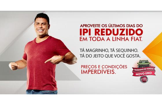 Ronaldo fue la estrella contratada por Fiat para promocionar el IPI reducido.