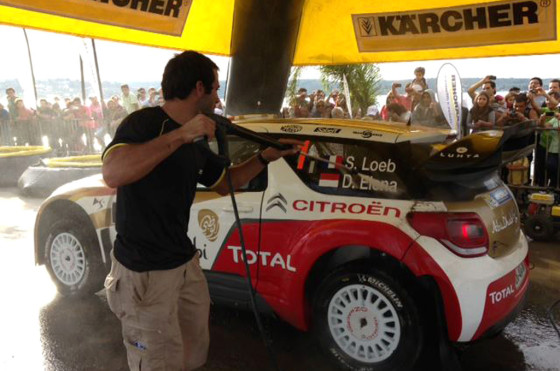 Rally de Argentina: lso autos se lavan con la tecnología de Kärcher