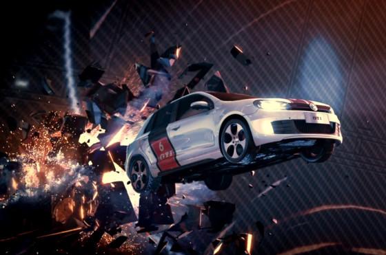 Agencia china + Meteoro + Tron + Hot Wheels + VW = comercial del Nuevo Golf GTI