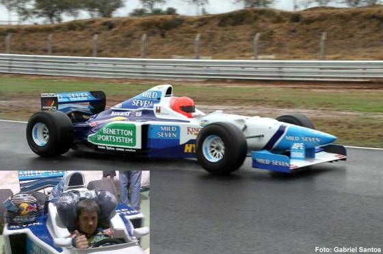 Norberto Fontana se volvió a subir a un Fórmula 1. Foto: Gabriel Santos.