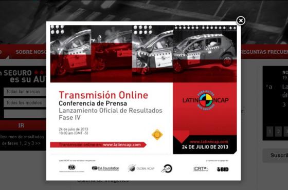 Latin NCAP presentará los resultados de la cuarta fase de crash test