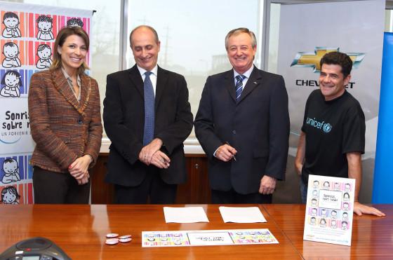 """Chevrolet y UNICEF presentan """"Sonrisas sobre Ruedas, un porvenir en marcha"""""""