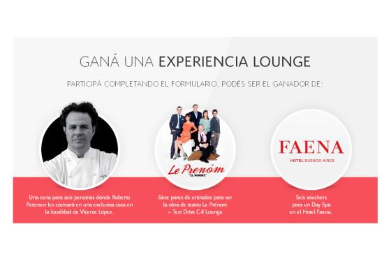 Citroën Argentina lanza el concurso Experiencias C4 Lounge