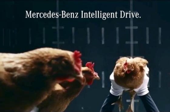 Los gallos de Mercedes-Benz