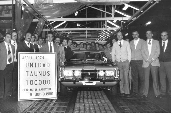 Línea del Ford Taunus en Pacheco