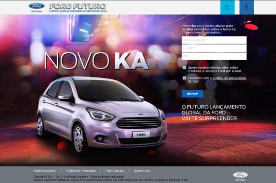 Novo Ford Ka WEB SITE