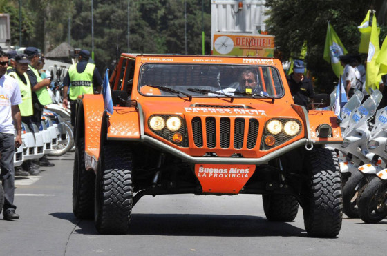 El Gaucho en el lanzamiento del Operativo Sol 2010-2011.