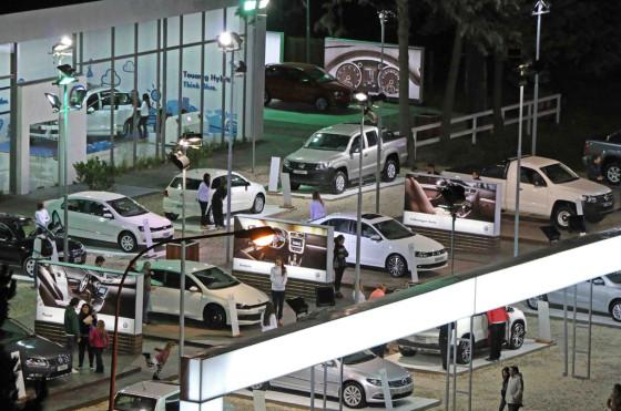 Stand de Volkswagen en Pinamar 2014.