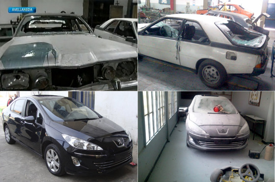 Indignante: destrozan autos de una Escuela Técnica, incluido un 408 donado por Peugeot