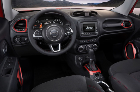 Interior del Jeep Renegade