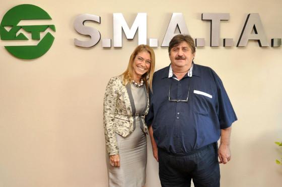 Ricardo Pignanelli, titular de SMATA, y Débora Giorgi, ministra de Industria