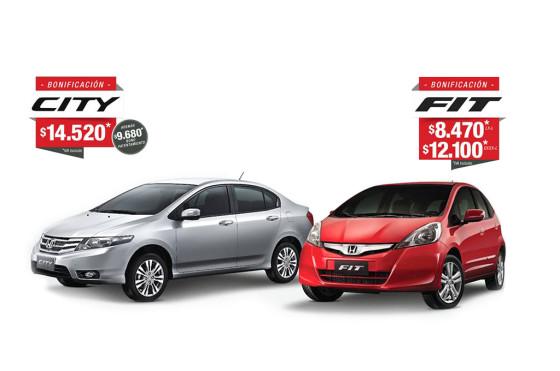 Honda lanza una importante bonificación para el Fit y el City