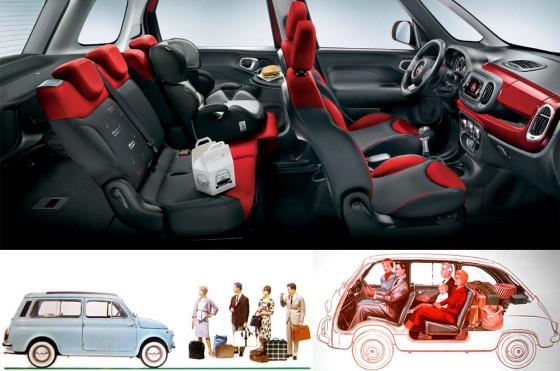 Fiat 500L y sus antepasados