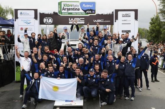 WRC: Volkswagen Motorsport celebra su primer triunfo en el Rally de Argentina