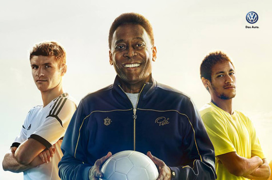 VW Alemania con el apoyo de Pelé