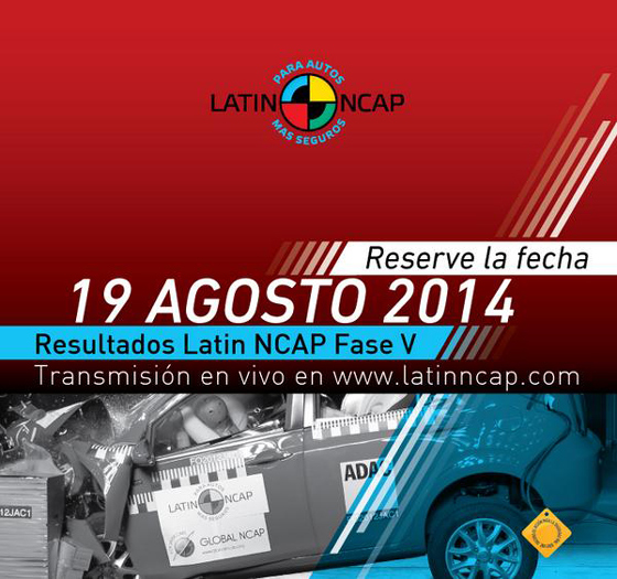 LatinNCAP anunciará los resultados de otros 5 modelos y endurece los test