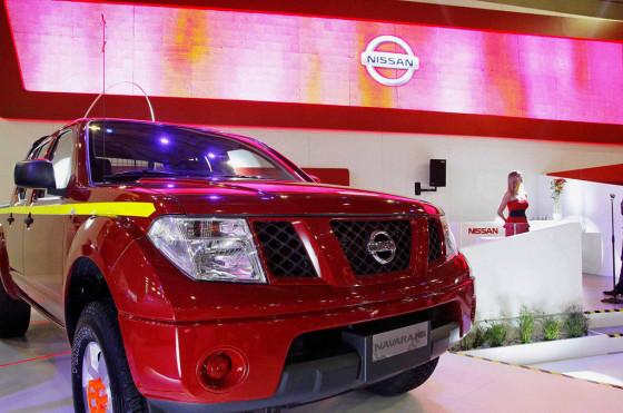 Stand de Nissan Chile en la Fenatran 2014