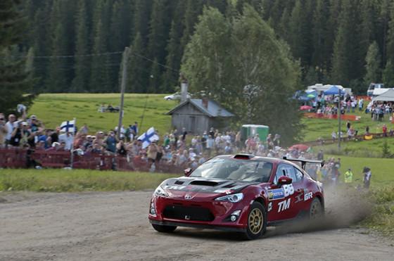 La Toyota GT86 WRC en el Rally de Finlandia.