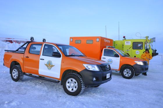 Toyota renovó su flota de Hilux en la Antártida