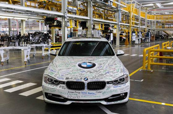 Salió de la línea el primer BMW fabricado en Brasil
