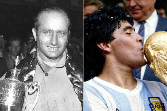 Fangio y Maradona