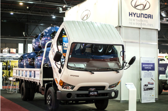 Hyundai HD78 en Expo Transporte 2014