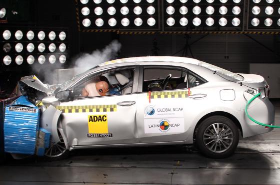 Latin NCAP: el Toyota Corolla consiguió una muy buena nota general en seguridad
