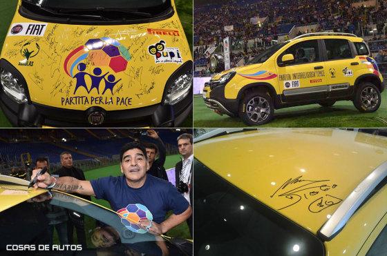 Fiat Panda subastado en el Patido por la Paz