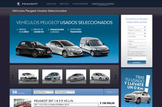 Peugeot puso on line su plataforma de Usados Seleccionados